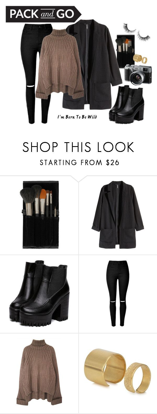Pack and Go: Milan by neuzaalexa on Polyvore featuring H&M, Maria Francesca Pepe, Topshop, Rimini, Fuji, Børn and Packandgo