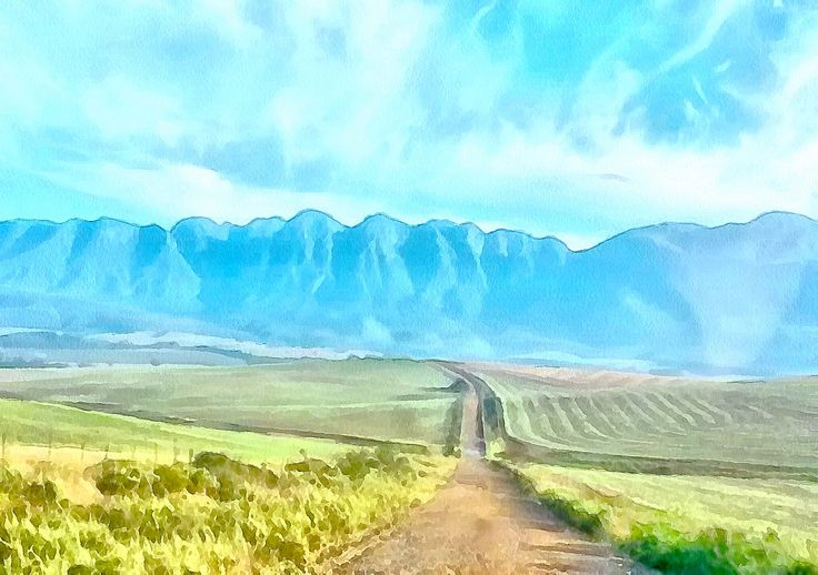 Riviersonderend, Western Cape, South Africa, Painted by Gareth Parkes