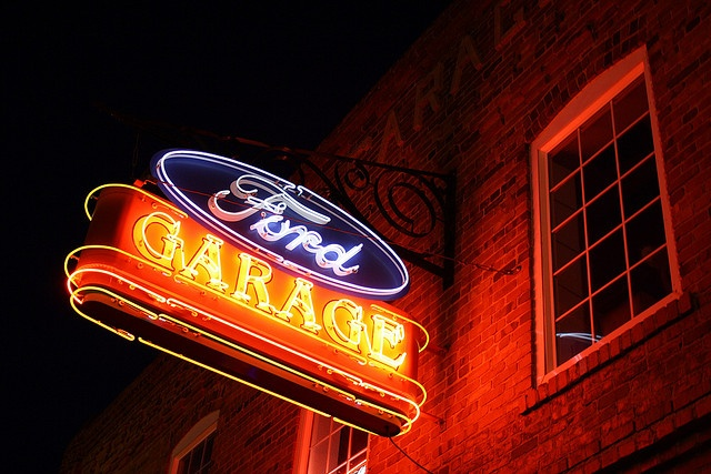 Classic Ford Garage Neon Sign by Micheal  Peterson, via Flickr