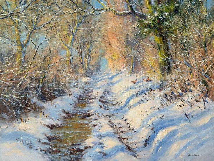 """Sunlight Through the Trees, Brailsford"" by Rex Preston - limited edition print"