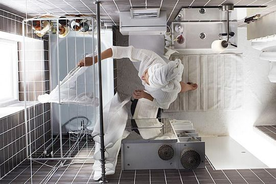 Narrow Living Room Solutions: 22 Best Small Loft Shower Room Ideas Images On Pinterest