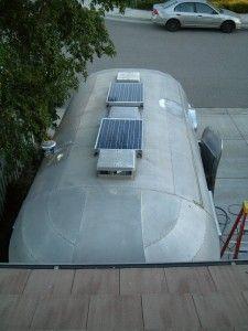 Solar Panel intallation on an Airstream travel trailer