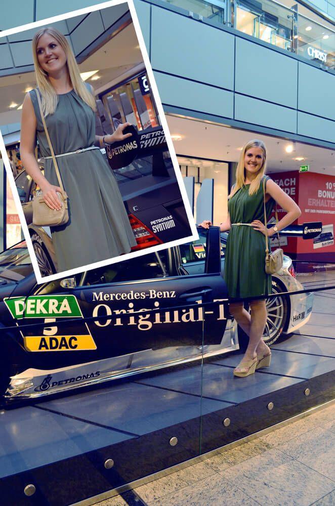 #Mode & #Motoren. #Models im #Mercedes #Look Anne aus Dänemark wird gerade bei uns im Centermanagement eingearbeitet, um in ihrer Heimat in einem ECE-Center zu arbeiten. Ihr #Kleid ist von #TommyHilfiger. #AlleeCenterMagdeburg #MagMag #Magazin