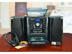 Encore Shelf Stereo System with Turntable & 3 CD Changer