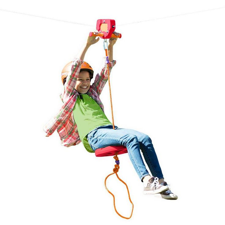 Red Backyard Zipline Kit For Kids Outdoor Play, 80' L ...