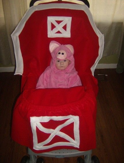 And You Thought Baby Halloween Costumes Were Cute! Dress up the stroller too!...if I had a little one of course