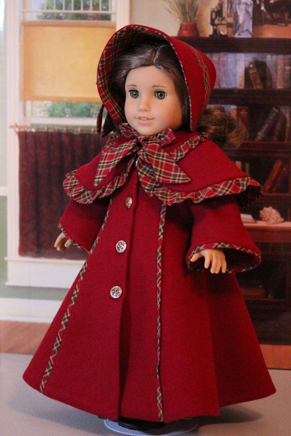 Victorian Christmas Caroler Coat, Pelerine, and Bonnet by BabiesArtUs | Etsy