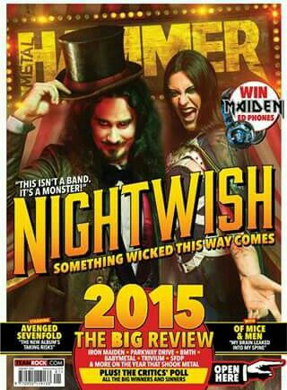 Nightwish graces the January cover of Metal Hammer to usher in the New Year. Plus a recap of the major highlights of 2015 and interviews galore.