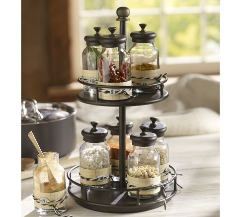 Such a cute spice rack - love that you can put them in your own jars so they all match