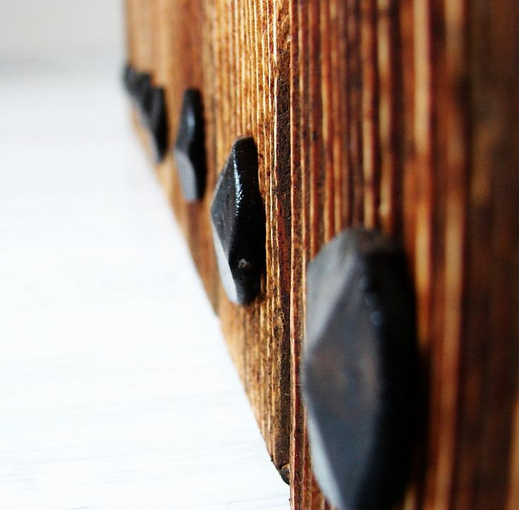 Details make the difference. Wooden coffee table ROBUST. Spruce wood and iron.