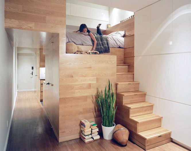 Fascinating Wooden Decoration Room With Cool Mezzanine Bed And ...