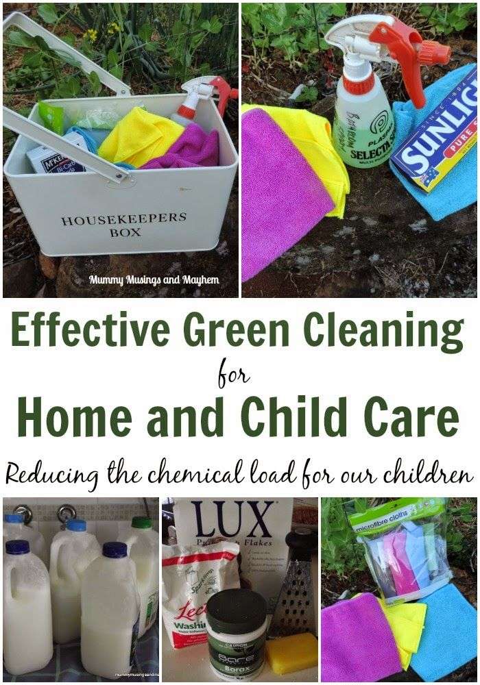 Effective And Safe Green Cleaning For Home And Daycare