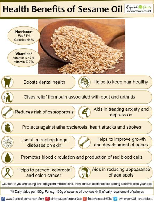 The Health Benefits Of Sesame Oil Include Its Ability To
