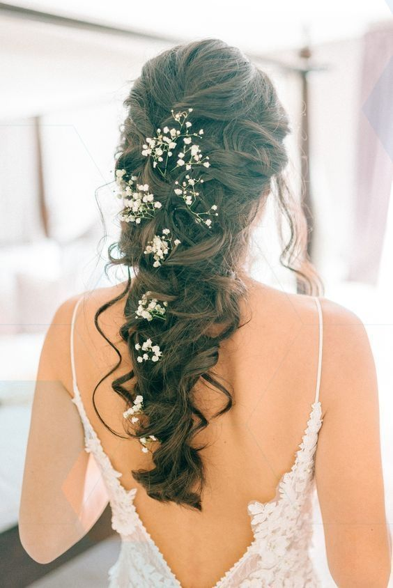 Großartig Bridal Braid With Gypsophila – Godwick Hall Wedding With Bride In Anna