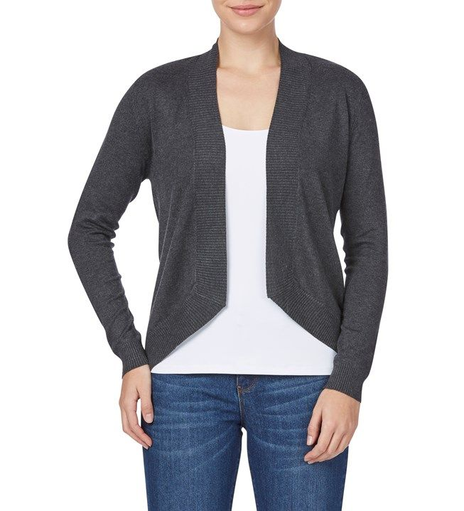 Rockmans Long Sleeve Wide Rib Cardigan