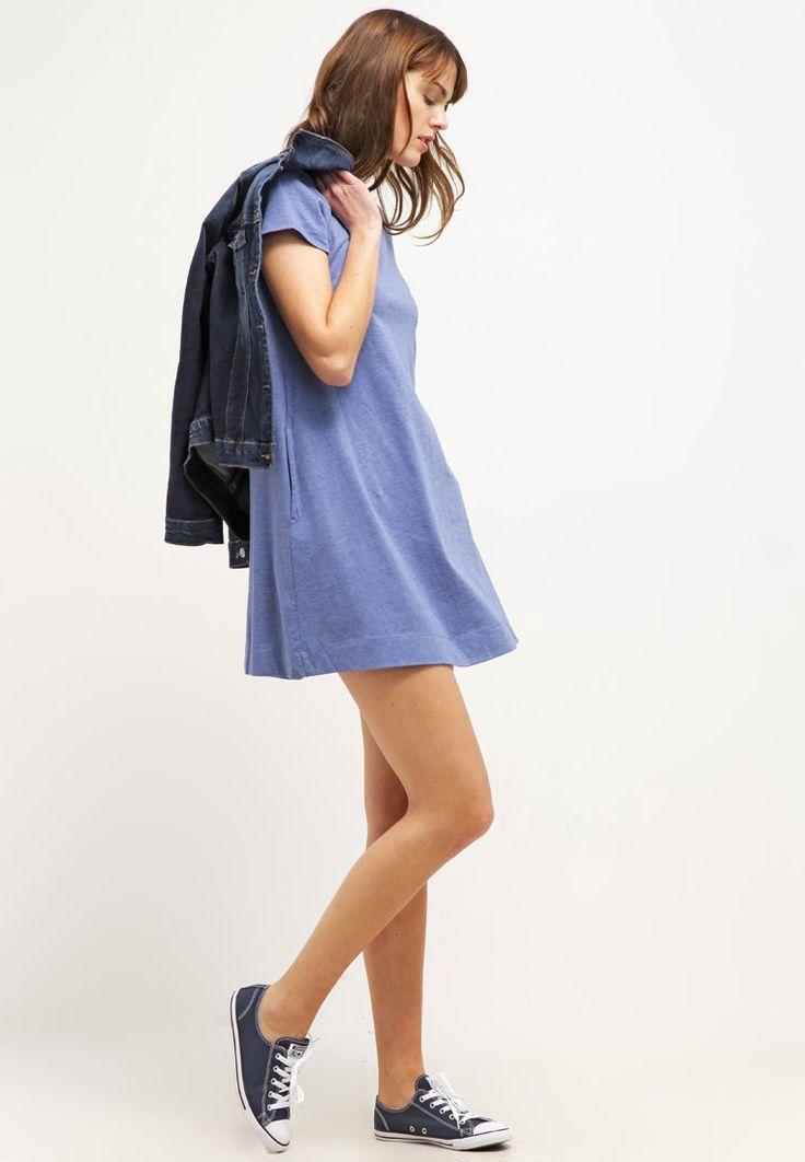 ¡Cómpralo ya!. GAP Vestido de algodón heather blue.  , vestidoinformal, casual, informales, informal, day, kleidcasual, vestidoinformal, robeinformelle, vestitoinformale, día. Vestido informal  de mujer color azul marino de Gap.
