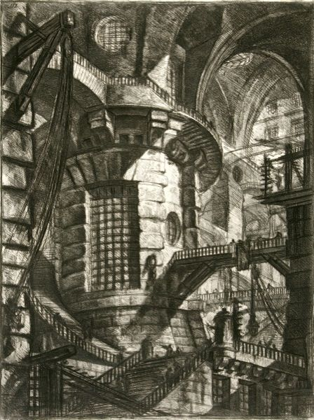 'Visualizing opium dreams through the etchings of Piranesi. Pictured: The Round Tower.