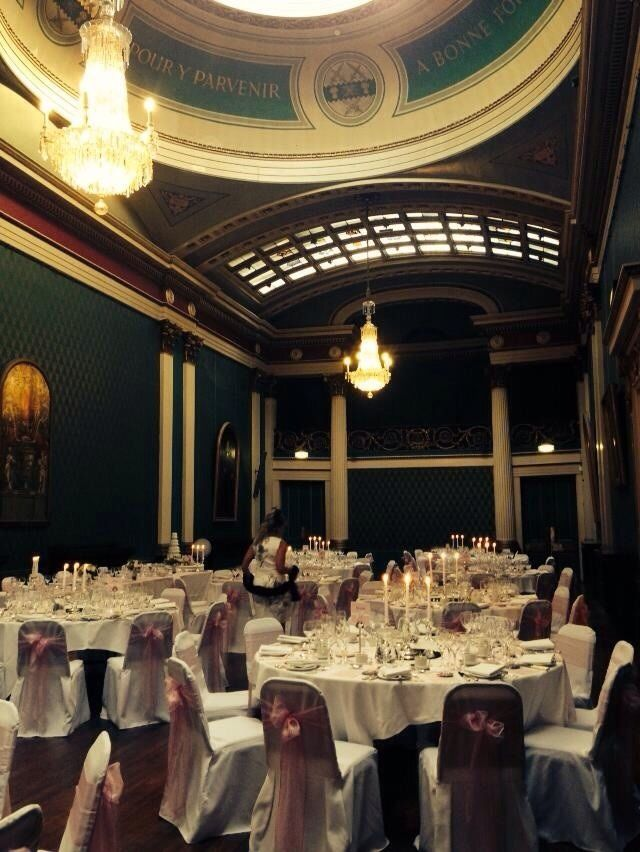 The Old Banqueting Hall Ready For Wedding Breakfast Sheffield Venue