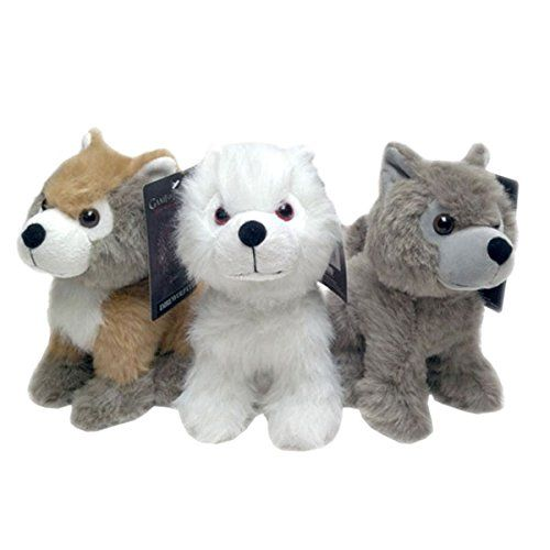 Game of Thrones Direwolf Cub Plush Set #1 (Ghost Summer & Grey Wind) @ niftywarehouse.com #NiftyWarehouse #Geek #Fun #Entertainment #Products