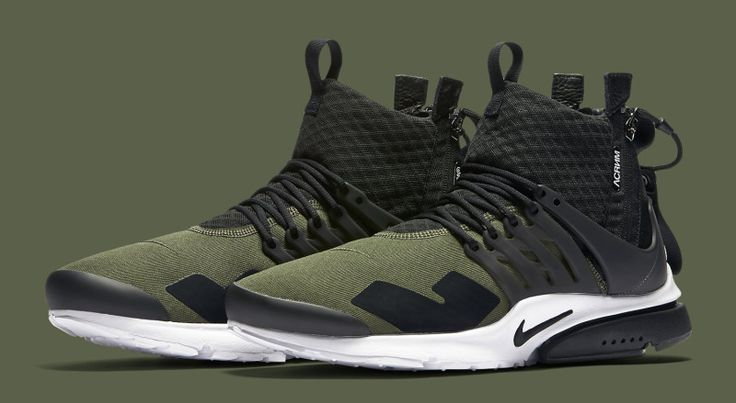 Official Images Of The ACRONYM x Nike Air Presto In Olive