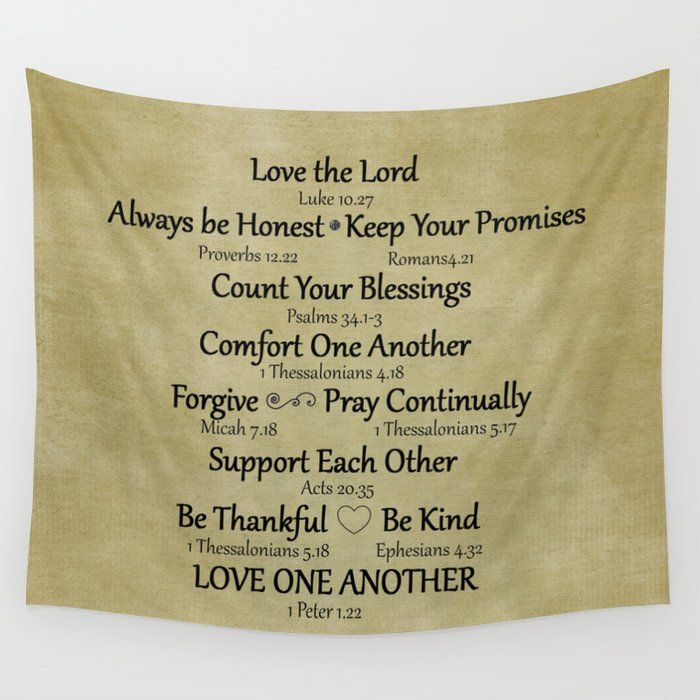 Our Lightweight Wall Tapestries Feature Vivid Colors And Crisp Lines Giving You An Awesome Centerpiece For A Bible Verse Gifts Family Rules Encouraging Verses