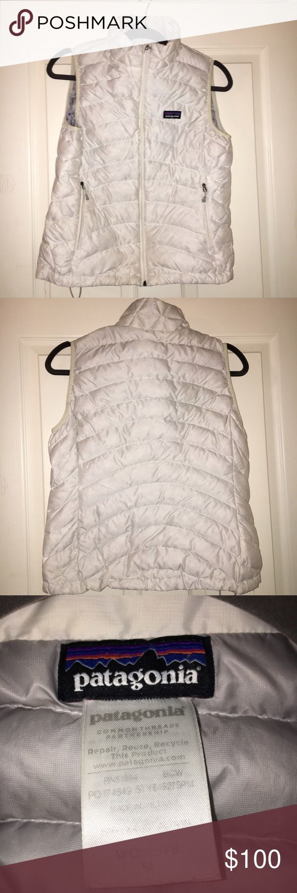 Patagonia Down Sweater Vest White Down vest from Patagonia. Stylish and a great layering price. Great condition. Patagonia Jackets & Coats Vests