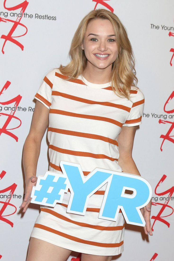 HUNTER HALEY KING at The Young & The Restless 11000 Show Celebration in Los Angeles  actress HUNTER HALEY KING