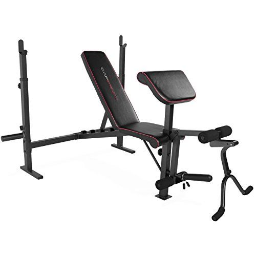 CAP Strength Olympic Weight Bench with Preacher Pad & Leg Attachment For Sale be…