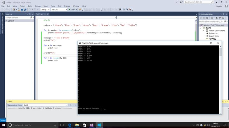 Example Of Using For In Python With Displayed Results The Console Window Text Editor