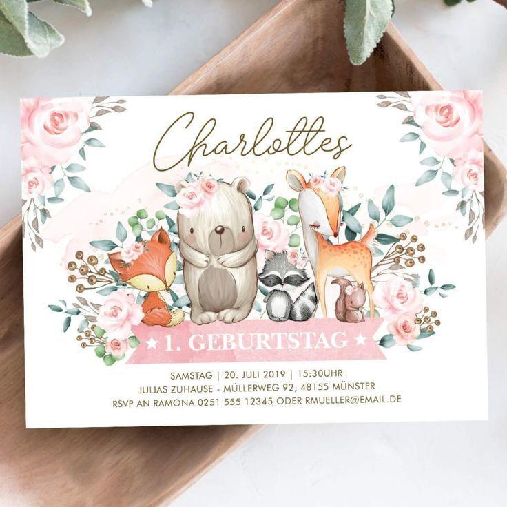 Einladungskarte 1 Geburtstag Einladungskarten 1 Geburtstag Baby