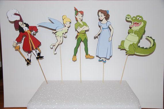 Peter Pan 5 piece centerpiece Peter Pan, Hook, Wendy, Tinkerbell, Tick Tock Croc