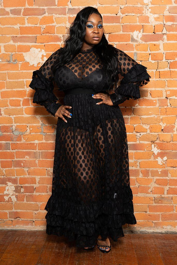 Who Said Your Little Black Dress Couldn T Be Long And Dramatic We Are Breaking All The Rules With This Sheer Maxi Dress Sheer Dresses Outfit Black Sheer Dress