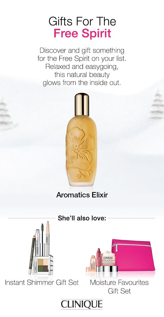 The Free Spirit on your list will love Aromatics Elixir from #Clinique—our non-conformist fragrance that performs the role of perfume, but goes far beyond. #Aromatics #Fragrance #Perfume #Beauty