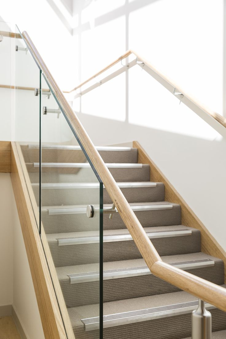 Stair Staircase Commercial Non Slip Treads   Timber Handrails For Stairs