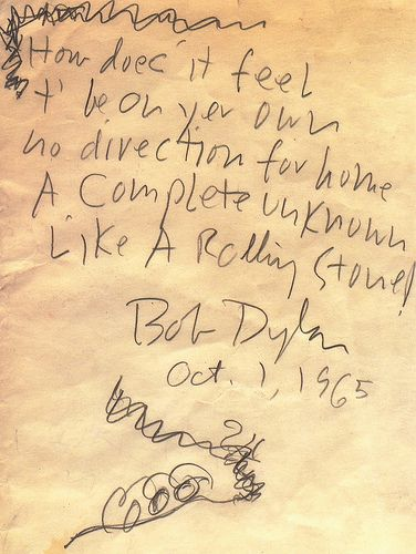 Like A Rolling Stone ~ Bob Dylan 1965