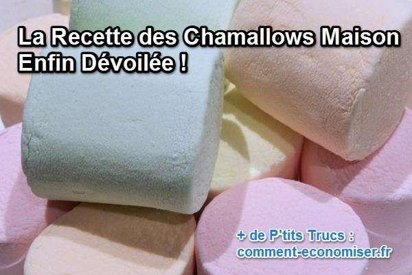 la recette des chamallow maison