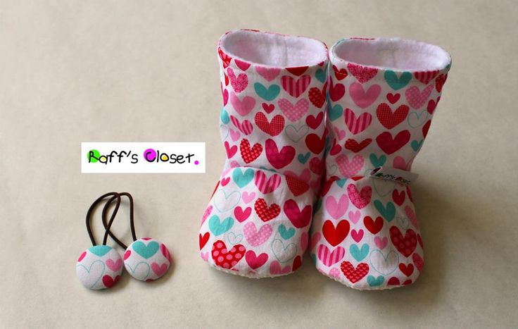 Baby Boots and Matching Hairties www.facebook.com/RaffsCloset