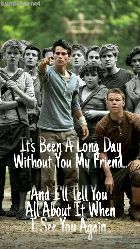 Song: See you again By: bumlebarnet Fandom: The Maze Runner | Maze
