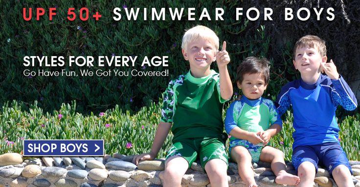 Boy's UV Protective Swimwear and Sunwear - Shop at www.TugaSunwear.com #kids #outdoors #UVprotection #boys #swimwear #activewear #tuga #sunwear