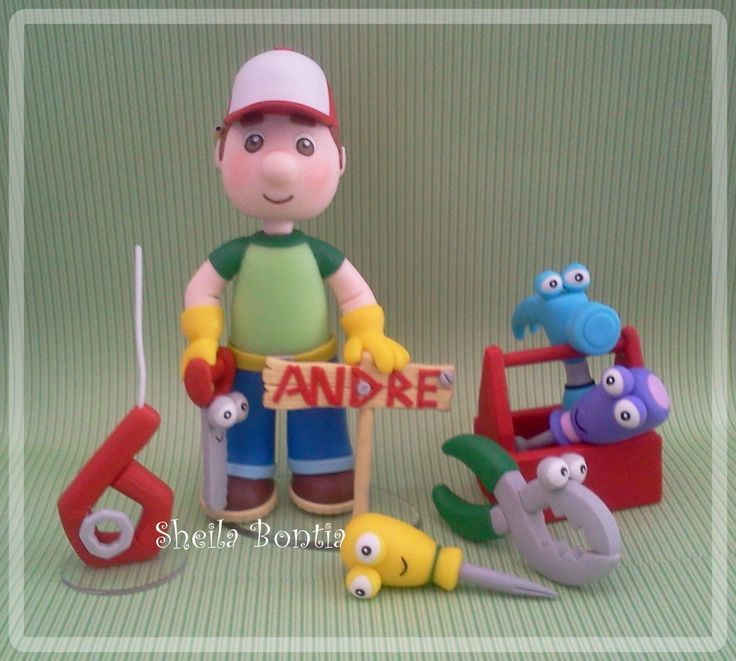 Handy Manny Cake Topper