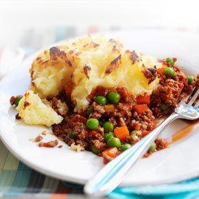 Quorn mince cottage pie... can add peas, carrots, lentils ...