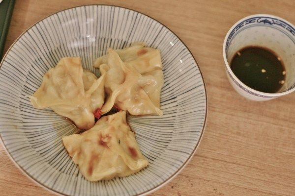 Tmx - chicken wontons with dipping sauce