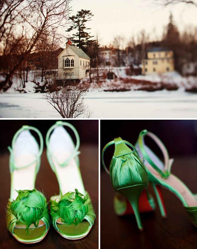 Christian Louboutin shoes in the most amazing shade of green