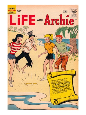 Archie Comics Retro: Life With Archie Comic Book Cover #3 (Aged). How to live with another.