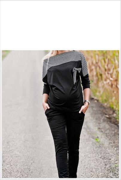 Umstandsbluse kariert mit Schleife // maternity blouse by Divita Umstandsmode via DaWanda.com