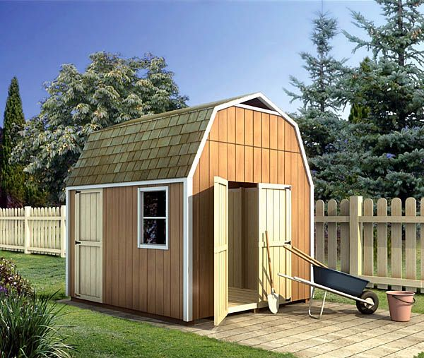 gambrel shed project plan 90028 the gambrel style roof provides this storage