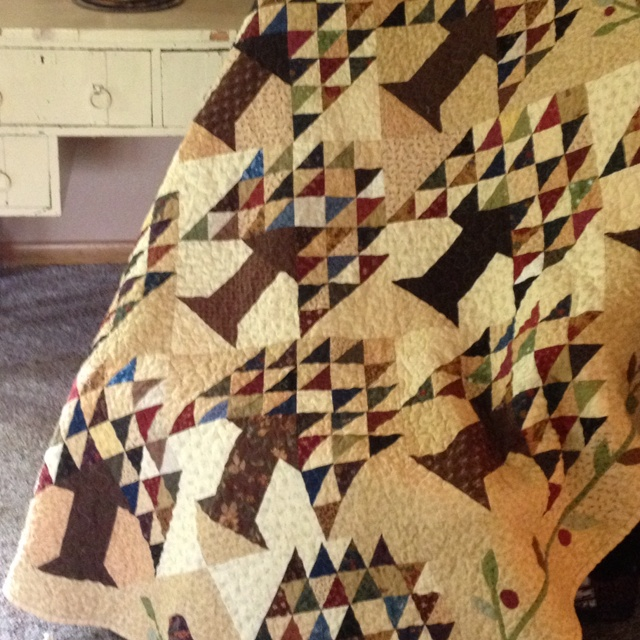 Tree of Life - Edyta Sitar - Laundry Basket Quilts pattern. Made by Jodie Linger