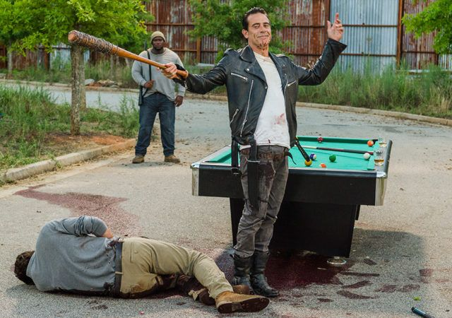 The Walking Dead Season 7 Episode 8 'Hearts Still Beating' Negan and Spencer