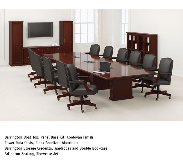 National Office Furniture   Barrington Table, With Arlington Task/work  Seating In Conference Room Area.