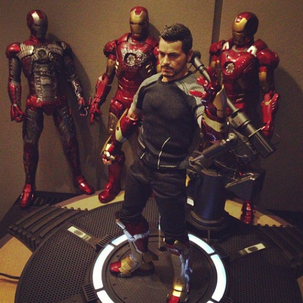 tony stark and his suits